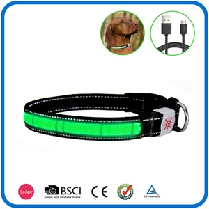 Usb Nylon Pet Dog Led Luminous Collar