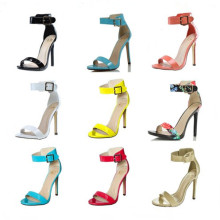 Fashion Leather High Heel Lady Sandals (S11)