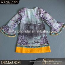 Высокого класса фабрики Китая прямые оптовые дети платья конструкций