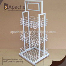 metal drink bottle display rack