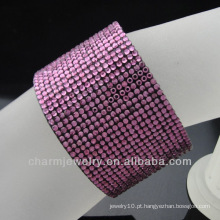 2015 nova chegada moda meninas pulseira de cristal pulseira vners Cuff para as mulheres
