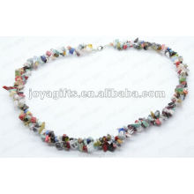 Verschiedene Chip Edelstein Halskette