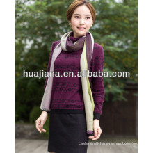 100% cashmere jacquard turtleneck sweater for woman