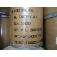 Monohidrato de ácido tartárico y aditivo alimenticio anhidro