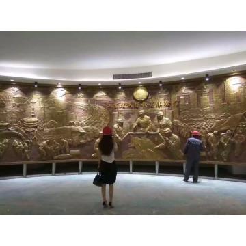 escultura de parede de bronze do relevo do ofício do metal da decoração do memorial para a venda