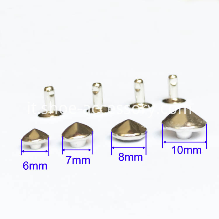 Silver-Plated Conical Rivets