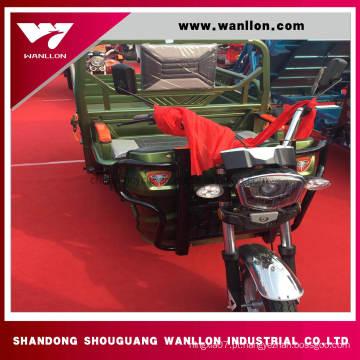 Triciclo elétrico de três bicicletas da carga do veículo com rodas 850 * 1200mm para adultos