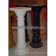Pilar coríntio com pedra de mármore granito arenito (QCM141)