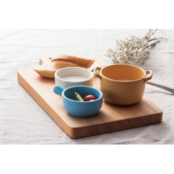 Plat de sauce de mélamine de 100% avec la poignée / plat de sauce de buffet (QQ1620-03)