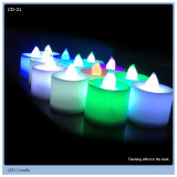 fantastic small led flickering wax candle