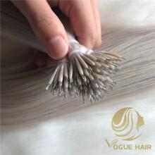 Extensions de cheveux humains nano anneau vierge russe