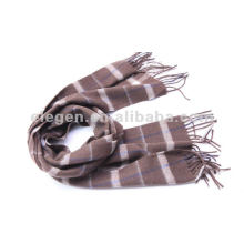 100%WOOL CHECKED PATTERN WOVEN STOLE SCARF