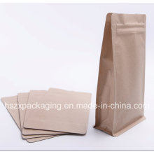 Stand up Kraft Paper Soft Snack Food Packing with Zip