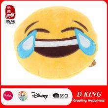 En71 Certificate Plush Stuffed Emoji Cushion for Kids