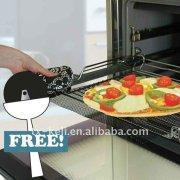 PTFE coated fiberglass heat resistant round pizza oven mesh for baking frozen pizza