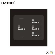 4 Gangs Lichtschalter Touch Panel (SK-T1200L4)