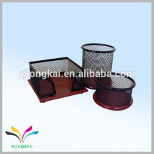 Équipement de bureau de bureau en métal en métal de Chine avec base en bois