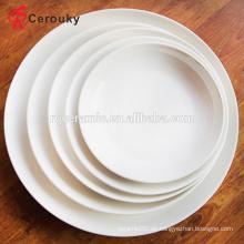 Restaurant Hochzeit Hotel verwenden reinen weißen runden Keramikteller gesetzt