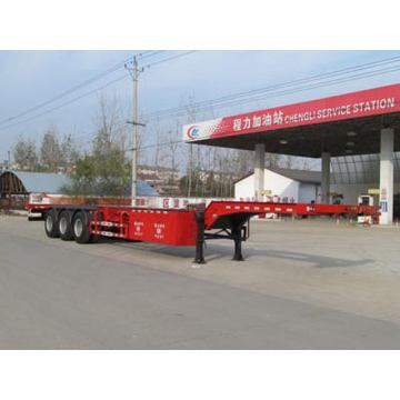 15m Tri-roda 20ft - 40ft Container transportasi semi trailer
