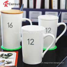 Pure white cheap price new bone china mug