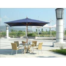 Praça clássico Delux Sunshine esconder guarda-chuva de pátio de madeira