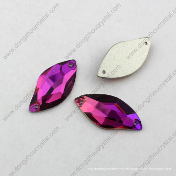 Rose Color S Shape Glass Piedra Rhnestone