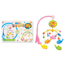 2015 New Cute Dolphin Plastic Electronic Baby Toy Baby Bed Hanging Toy