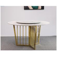 Luxury Rotatable Living Room Marble Dinner Table