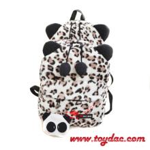 Plush Leopard Backpack