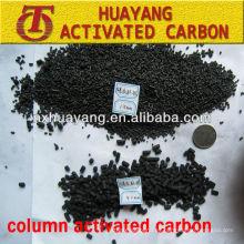 valor de yodo de 900 mg / g de columna de carbón activado 4.0mm carbón activado