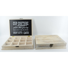 New Wooden Cup Couture Box with Grids