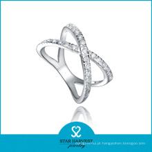 Hot Unique Silver Ring Jóias em Stock (R-0505)
