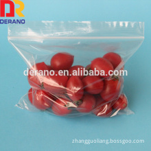 resealable zipper pouch bag for vegetable packaging