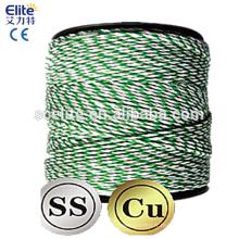 Polytape Polywire 400m rouleau poly bande / fil clôture électrique fil chaud ferme costume solaire Energiser