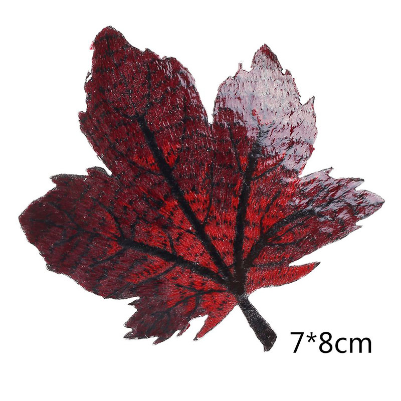 Colorful Maple Leaf Embroidered Patches