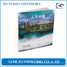 Cheap art paper matte lamination full color printing, brochure flyer magazine with perfect binding