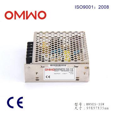 Fuente de alimentación conmutada de salida simple 35W 15V 2.4A