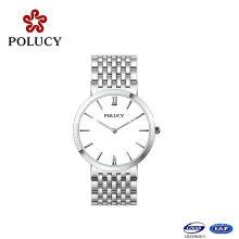 Reloj caliente de los hombres de la manera del reloj del acero inoxidable del diseño simple de los productos vendedores
