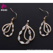 2016 Fashion Jewelry Ensemble de boucles d'oreilles pendentif en cuivre