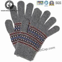 Popular mano de moda caliente invierno dedo acrílico colorido guantes de punto