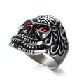 Popular jewelry Zircon eyes grimace skull ring