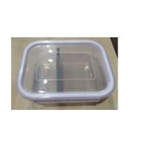 Boîte en carré en verre avec couche et couvercle de verrouillage