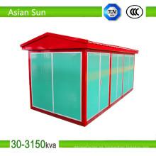 11kV 33kv europeo caja tipo al aire libre energía eléctrica subestación transformadora