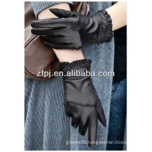 Fashion leather glove for winter in lixian