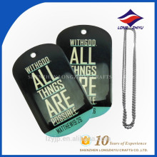 Custom shaped printing factory making China sales dog tag