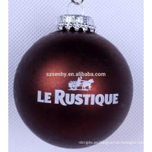 Bola de Navidad personalizada de la pintura de la LOGO