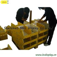 Carrinho de exposição de papelão contador para Super mercados com SGS B & C-C024)