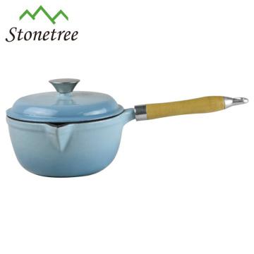 Mini cast iron non-stick wok