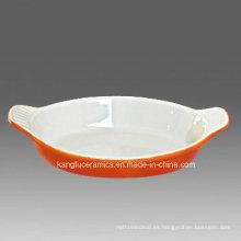 Bandeja para hornear de cerámica de color personalizado