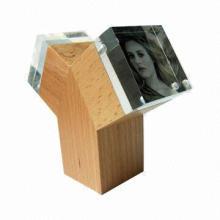 Acrylic photo frames/photo frames/distinctive modelling, made of acrylic and wood